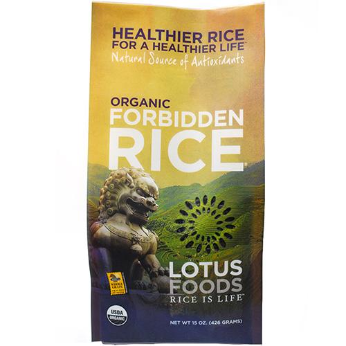 LOTUS FOODS - ORGANIC FORBIDDEN PEARL RICE - 15oz