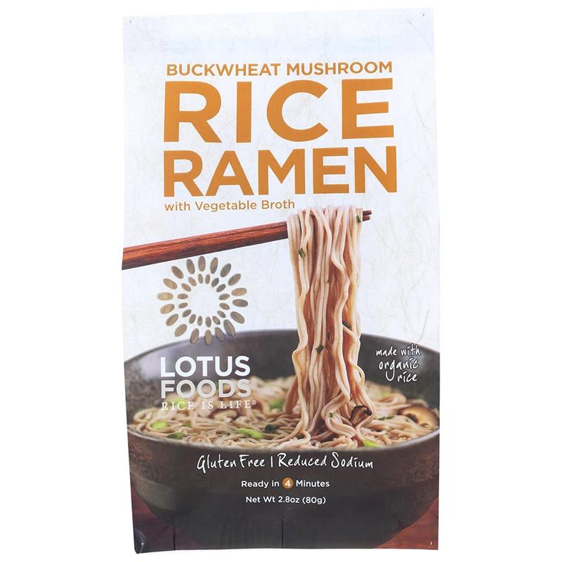 LOTUS FOODS - RICE RAMEN - GLUTEN FREE - VEGAN - ORGANIC - (Buckwheat Mushroom /w Vegetable Broth) -