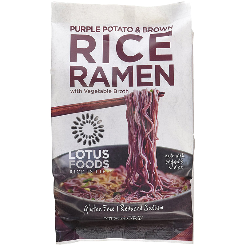 LOTUS FOODS - RICE RAMEN - GLUTEN FREE - VEGAN - ORGANIC - (Forbidden /w Vegetable Broth) - 2.8oz