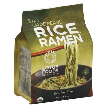 LOTUS FOODS - RICE RAMEN - GLUTEN FREE - VEGAN - ORGANIC (Jade Pearl) - 10oz (4PCK)