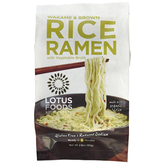 LOTUS FOODS - RICE RAMEN - GLUTEN FREE - VEGAN - ORGANIC - (Jade Pearl /w Vegetable Broth) - 2.8oz