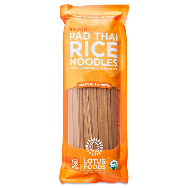 LOTUS FOODS - VEGAN - GLUTEN FREE - PAD THAI RICE NOODLES - (Brown) - 8oz
