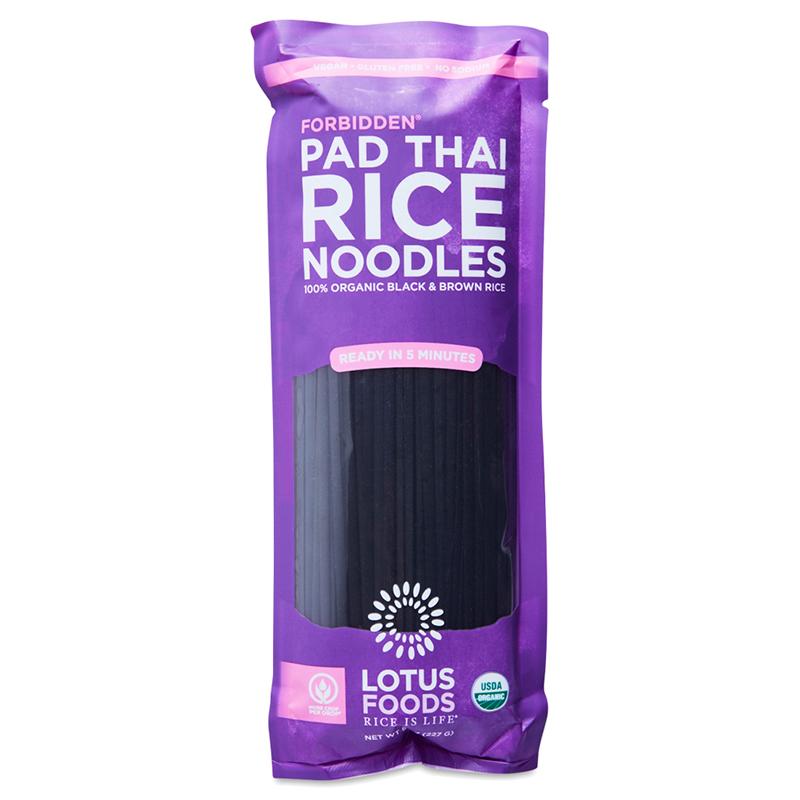 LOTUS FOODS - VEGAN - GLUTEN FREE - PAD THAI RICE NOODLES - (Forbidden) - 8oz