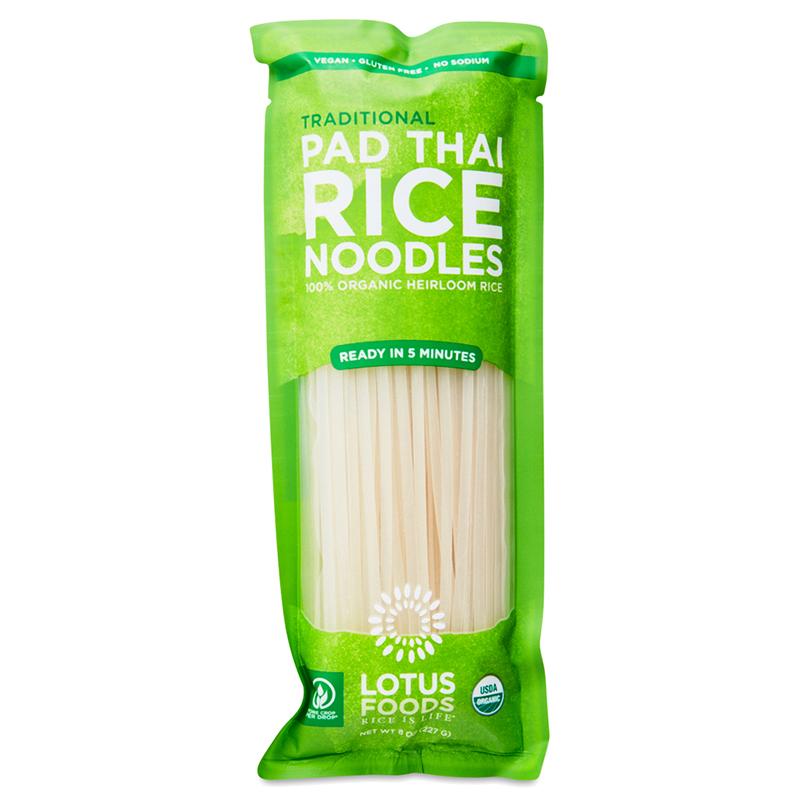 LOTUS FOODS - VEGAN - GLUTEN FREE - PAD THAI RICE NOODLES - (Traditional) - 8oz