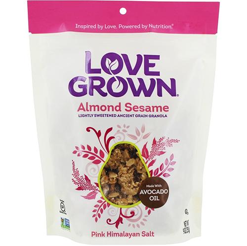 LOVE GROWN - LIGHTLY SWEETENED ANCIENT GRAIN GRANOLA - (Almond Sesame) - 9oz