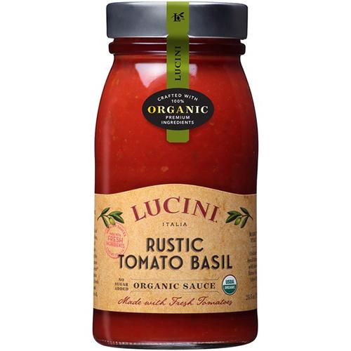LUCINI - ORGANIC TOMATO SAUCE - RUSTIC TOMATO BASIL - 25.5oz