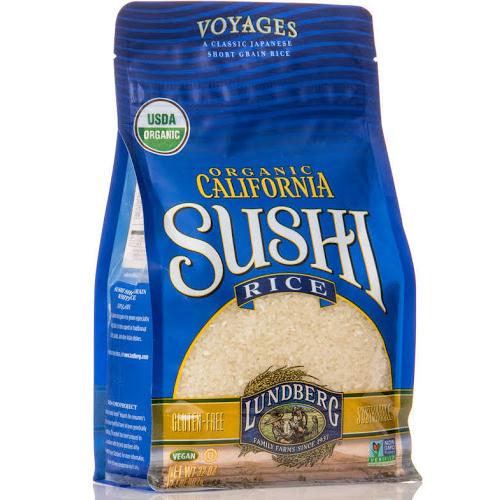 LUNDBERG - ORGANIC CALIFORNIA SUSHI RICE - NON GMO - VEGAN - 32oz
