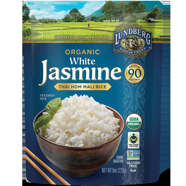 LUNDBERG - ORGANIC JASMINE THAI HOM MALI RICE - NON GMO - GLUTEN FREE - VEGAN - (White Rice) - 8oz