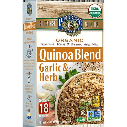 LUNDBERG - QUINOA BLEND - NON GMO - GLUTEN FREE - VEGAN - (Garlic & Herb) - 5.5oz