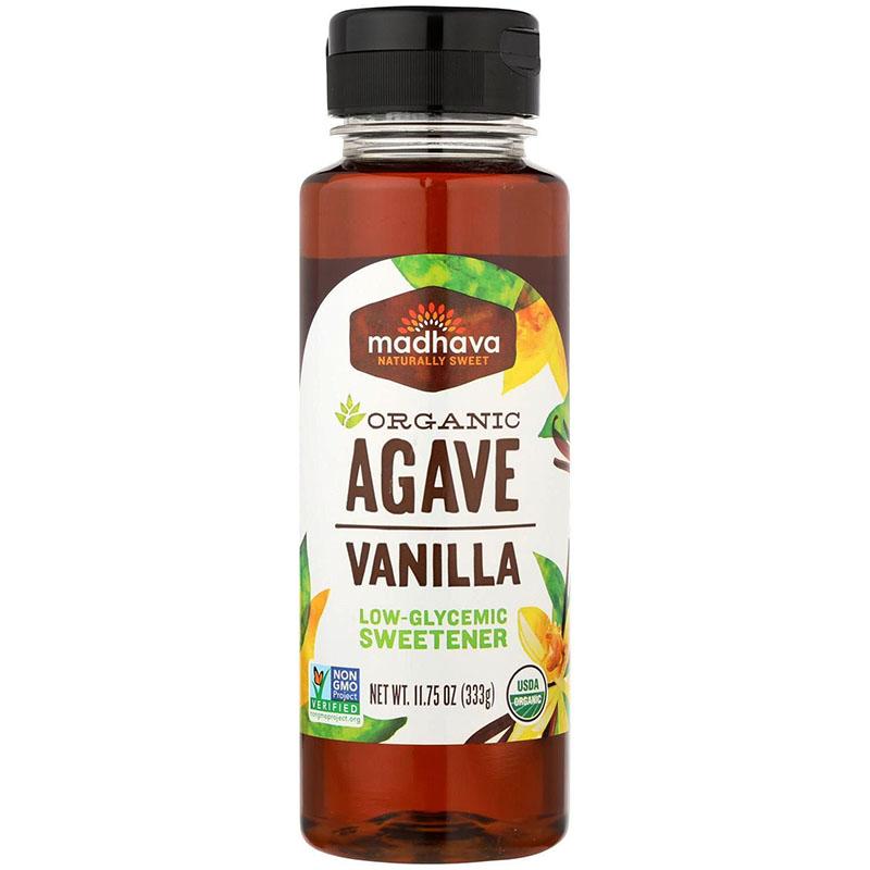 MADHAVA - ORGANIC AGAVE VANILLA NECTAR - NON GMO - GLUTEN FREE - VEGAN - 11.75oz