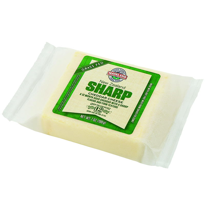 MAINLAND - NEW ZEALAND SHARP CHEDDAR CHEESE - 7oz