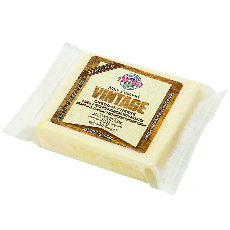 MAINLAND - NEW ZEALAND VINTAGE CHEDDAR CHEESE - 7oz