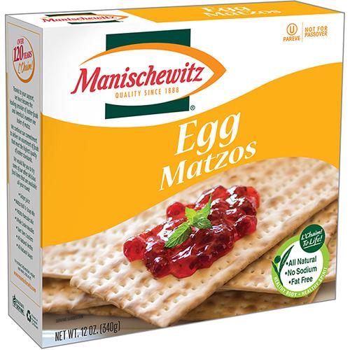 MANISCHEWITZ - EGG MATZOS - 12oz