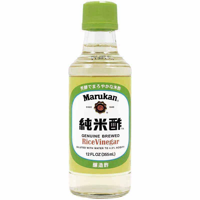MARUKAN - GENUINE BREWED RICE VINEGAR - DILUTED /W WATER TO 4.1% ACIDITY - 12oz