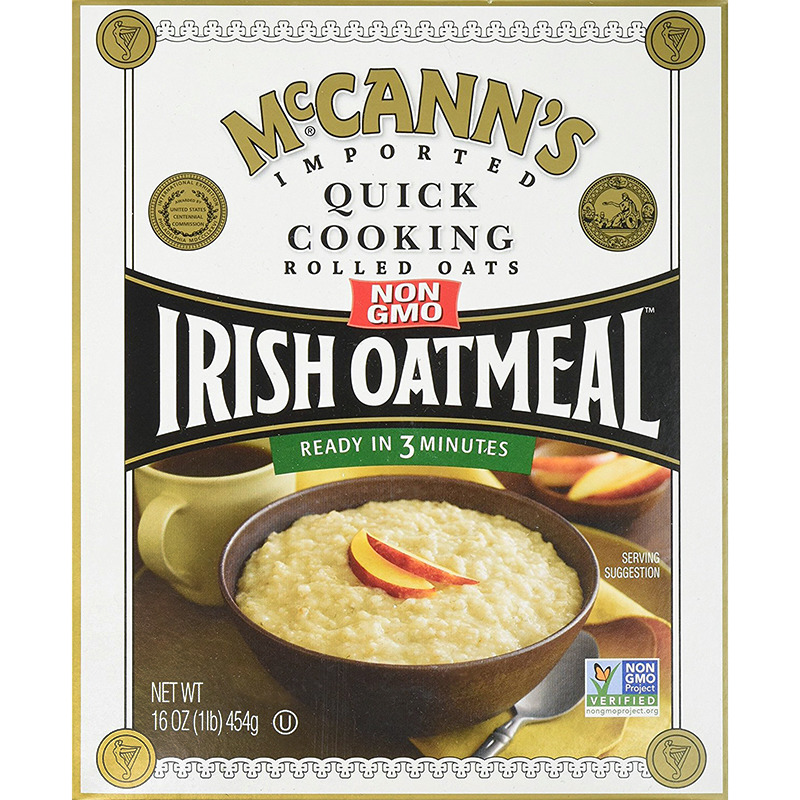 McCANN'S - IRISH OATMEAL - NON GMO - INSTANT - (Quick Cooking | Rolled Oats) - 12.34oz