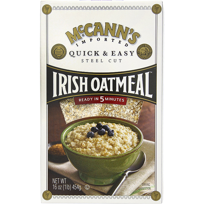 McCANN'S - IRISH OATMEAL - NON GMO - INSTANT - (Quick & Easy | Steel Cut) - 12.34oz