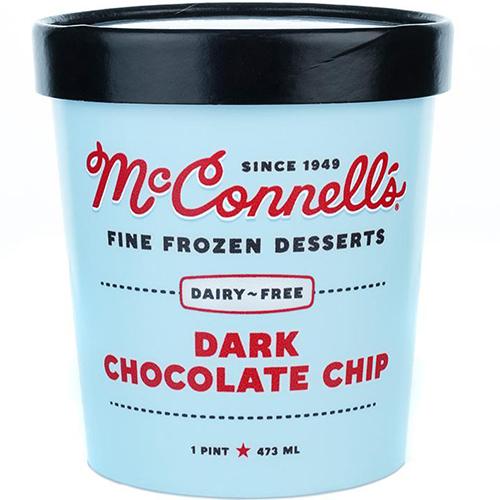 McCONNELL'S - FINE FROZEN DESSERTS - GLUTEN FREE - DAIRY FREE - (Dark Chocolate Chip) - 16oz