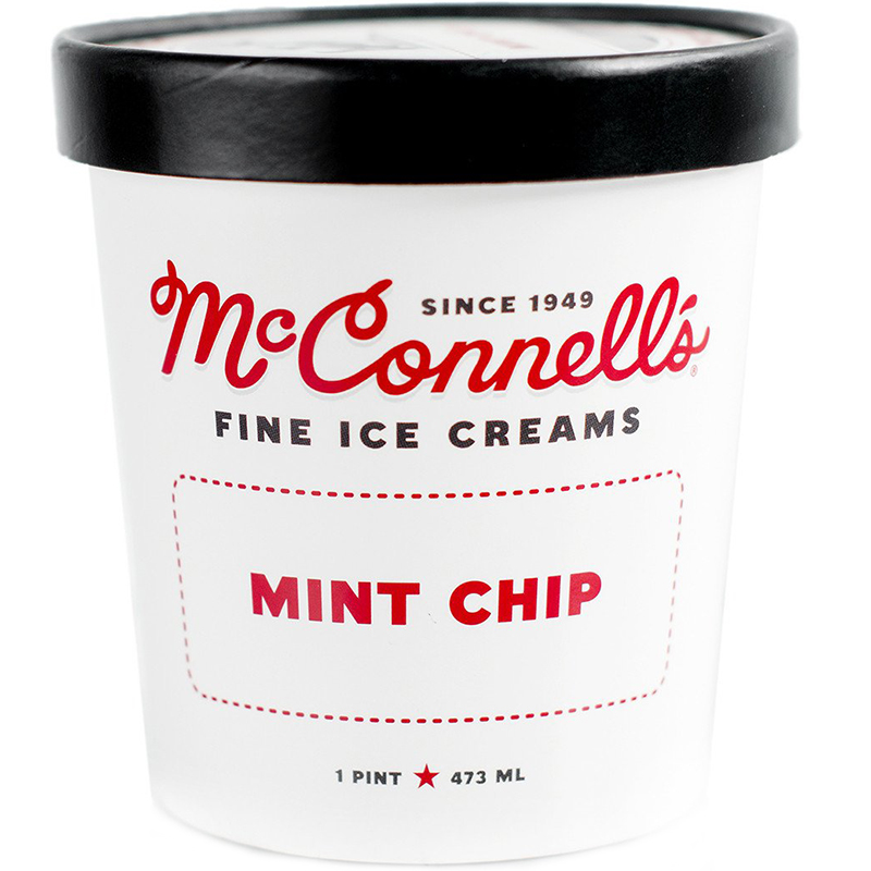 McCONNELL'S - FINE ICE CREAMS - GLUTEN FREE - (Mint Chip) - 16oz