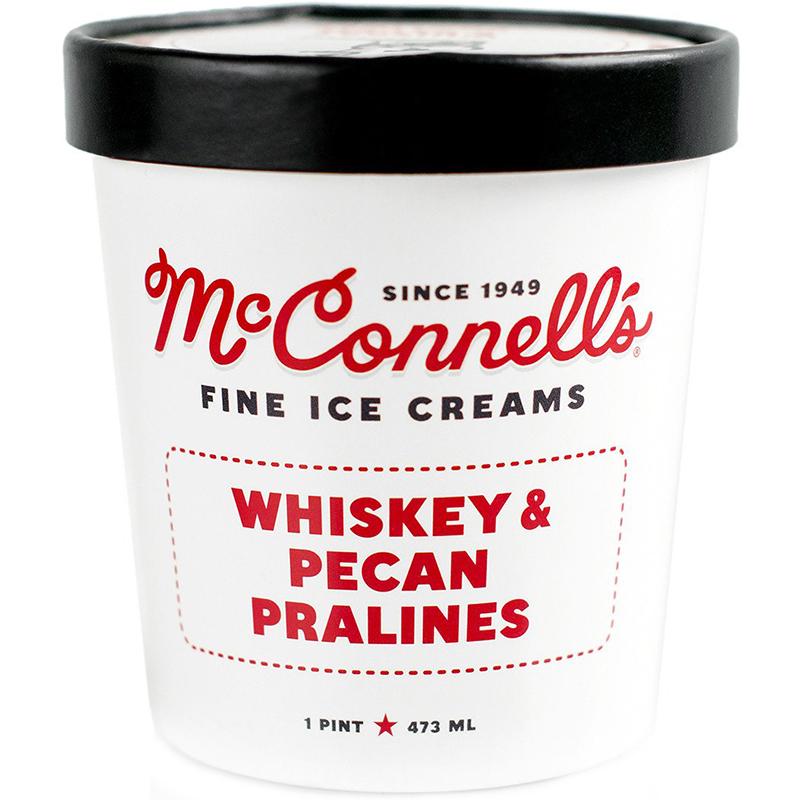 McCONNELL'S - FINE ICE CREAMS - GLUTEN FREE - (Whiskey & Pecan Pralines) - 16oz