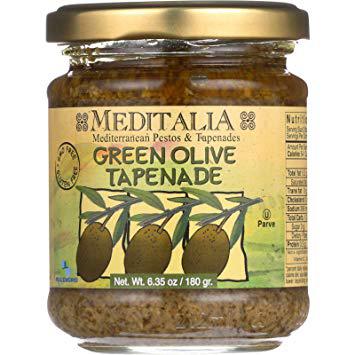 MEDITALIA - GREEN OLIVE TAPENADE - 6.35