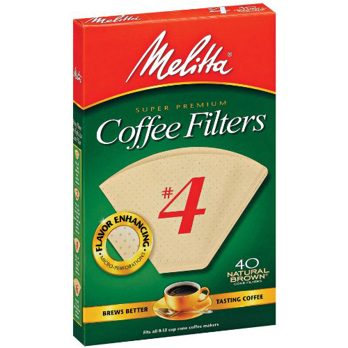 MELITTA - COFFEE FILTERS #4 - (Natural Brown) - 40ct