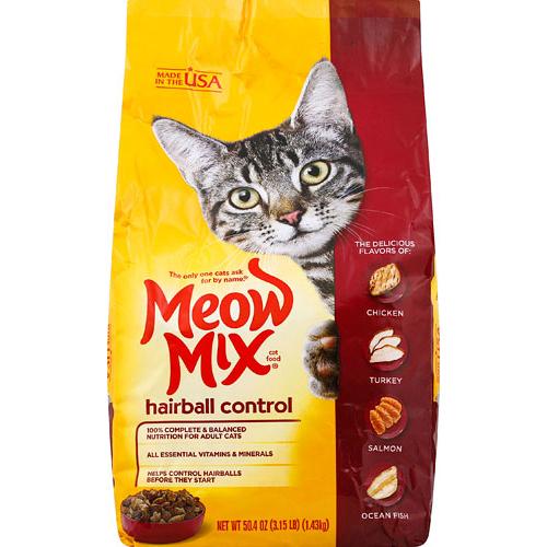 MEOW MIX - HAIRBALL CONTROL - 3.15LB