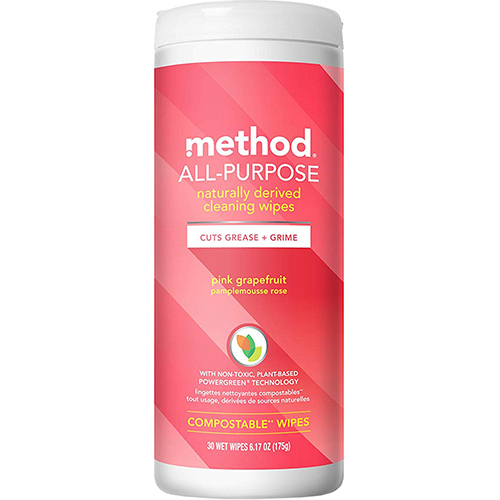 METHOD - ALL PURPOSE NATURALLY DERIVED CLEANING WIPES (Pink Grapefruit) - 6.17oz