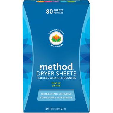 METHOD - DRYER SHEETS - 80SHEETS
