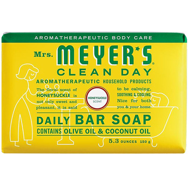MEYER'S - DAILY BAR SOAP - (Honeysuckle) - 5.3oz