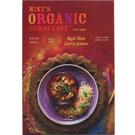 MIKE'S - ORGANIC CURRY LOVE SAUCE (Red Thai Curry) - 8.8oz