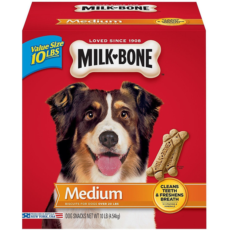 MILK BONE - BISQUITS FOR DOGS - (Medium) - 24oz