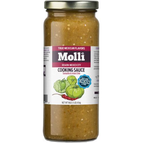 MILLI - COOKING SAUCE - (Tomatillo & Arbol Chile) - 16oz