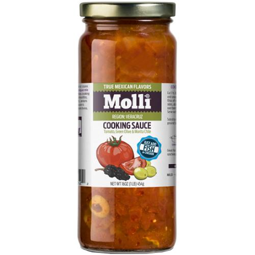 MILLI - COOKING SAUCE - (Tomato, Green Olive & Morita Chile) - 16oz