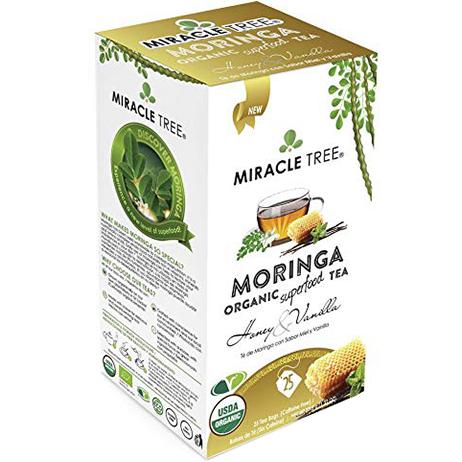 MIRACLE TREE - MORINGA ORGANIC SUPERFOOD TEA - (Honey & Vanilla) - 25 bag