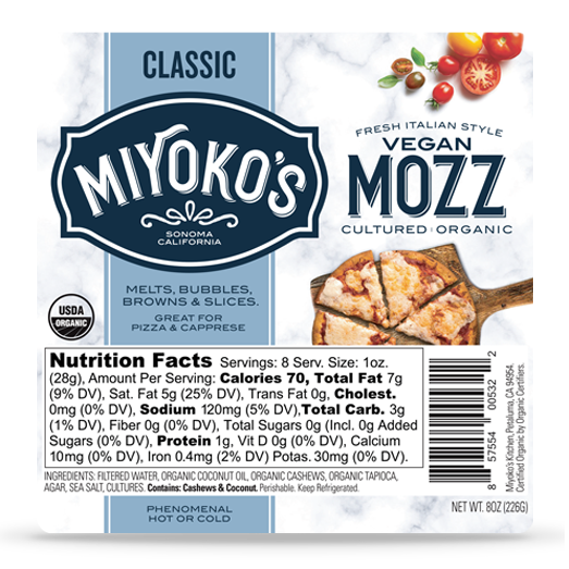 MITOKO'S - VEGAN MOZZ CHEESE - 8oz