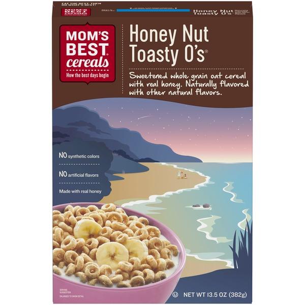 MOM'S BEST CEREALS - HONEY NUT TOASTY O'S - 20oz