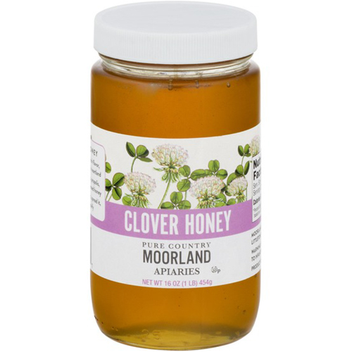 MOORLAND APIARIES - CLOVER HONEY - 16oz