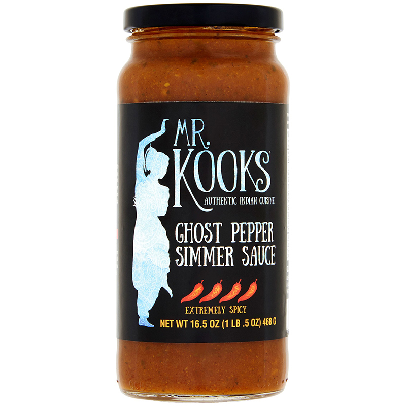 MR.KOOKS - GHOST PEPPER SIMMER SAUCE - (Extremely Spicy) - 16.5oz