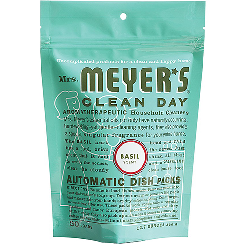MRS MEYER'S - AUTOMATIC DISH PACKS - (Basil) - 20Loads | 12.7oz