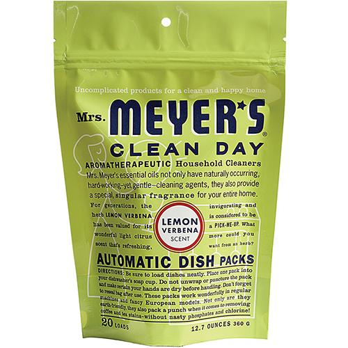 MRS MEYER'S - AUTOMATIC DISH PACKS - (Lemon Verbena) - 20Loads | 12.7oz
