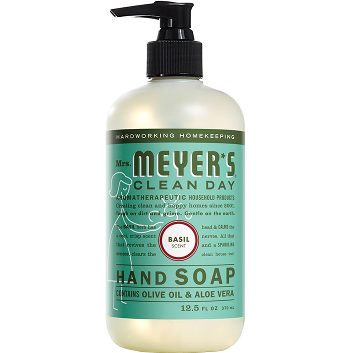 Mrs. MEYER'S - CLEAN DAY HAND SOAP - (Basil) - 12.5oz