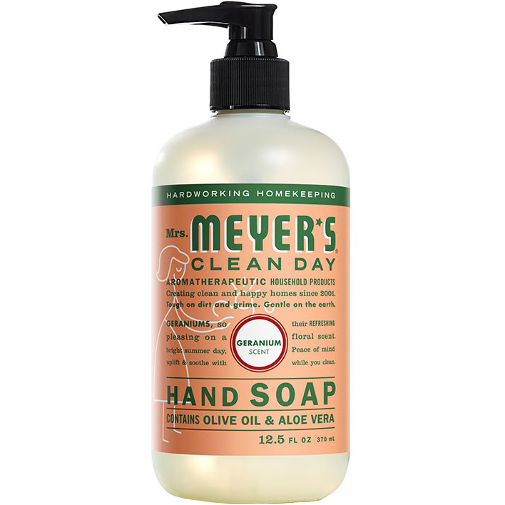 Mrs. MEYER'S - CLEAN DAY HAND SOAP - (Geranium) - 12.5oz