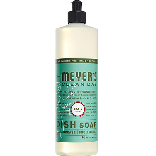 MRS MEYER'S - DISH SOAP - (Basil) - 16oz