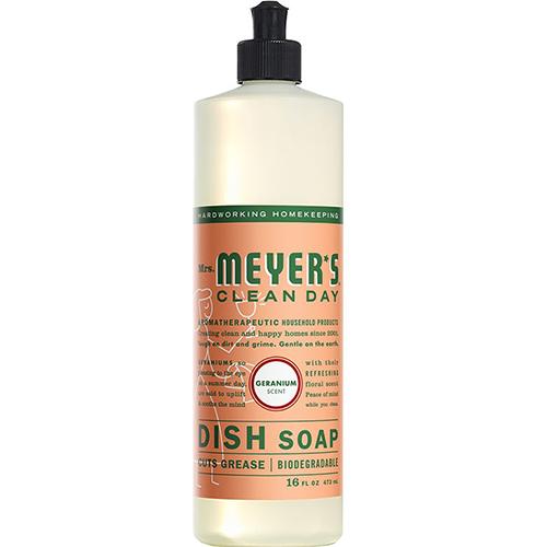 MRS MEYER'S - DISH SOAP - (Geranium) - 16oz