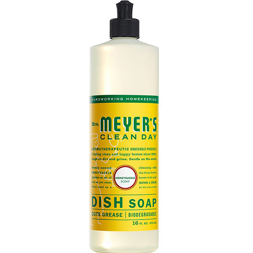 MRS MEYER'S - DISH SOAP - (Honeysuckle) - 16oz