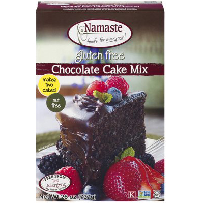 NAMASTE - GLUTEN FREE CHOCOLATE CAKE MIX - 26oz