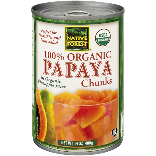NATIVE FOREST - 100% ORGANIC PAPAYA CHUNKS - 14oz