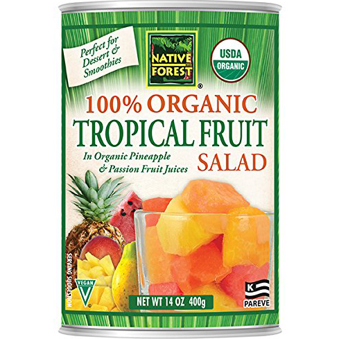 NATIVE FOREST - 100% ORGANIC TROPICAL FRUIT SALAD - 14oz