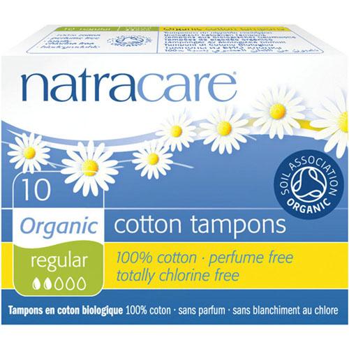 NATRA CARE - COTTON TAMPONS - (Regular) - 10PCS