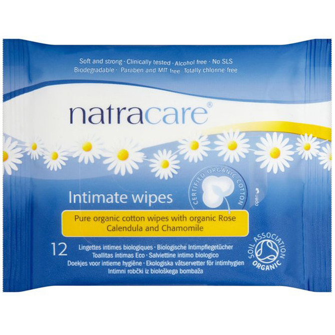 NATRACARE - INTIMATE WIPES - 12ct